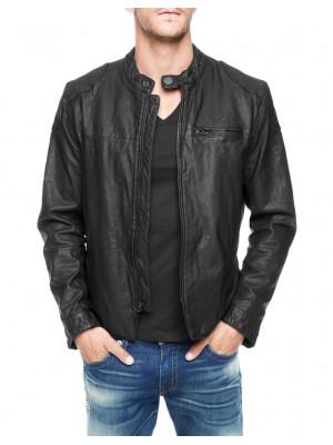 True Religion- куртка мужская кожаная черная